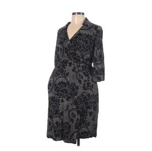 $10 SALE Beautiful black maternity wrap dress
